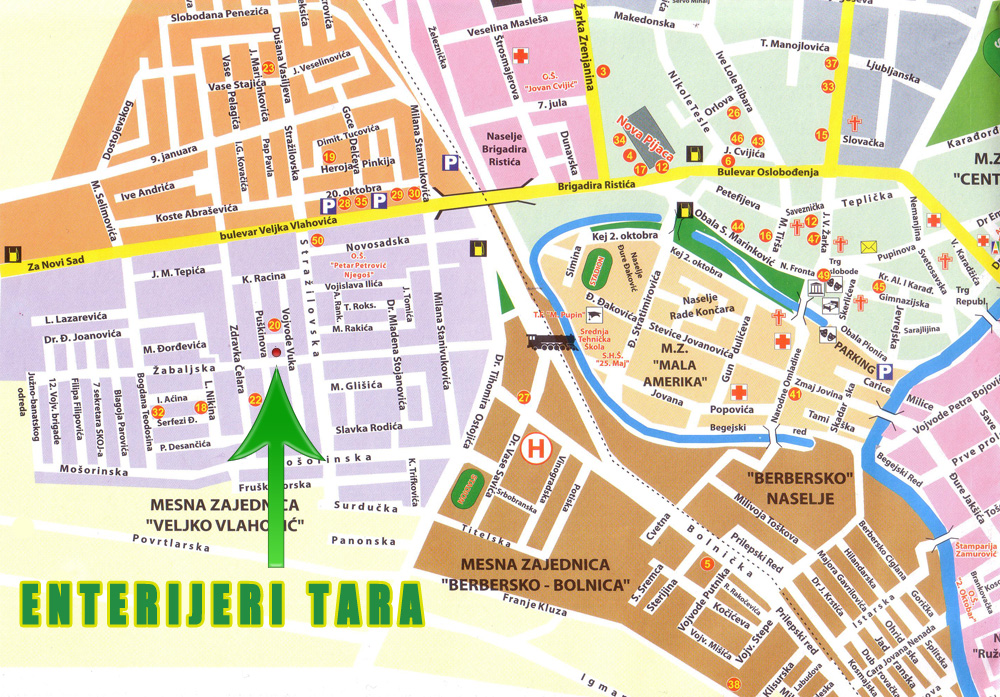 mapa zrenjanina Enterijeri TARA   namestaj po meri mapa zrenjanina